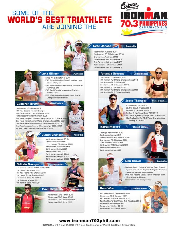 70.3 Philippines ATHLETES PRESENTATION